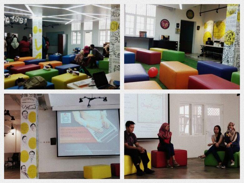 Rumah Mandiri Inkubator Bisnis - Penampakan di dalam ruangan yang colourful dan dinamis