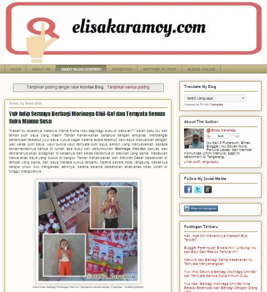 Blog Mbak Elisa Karamoy