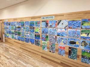 郡上市白鳥町内小学生による「長良川風景絵」展示について
