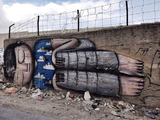 Kota dengan Seni Jalanan Terbaik di Dunia - Seni-Jalanan-Lukisan-Mural-di-Kota-Bethlehem-di-Tepi-Barat-1