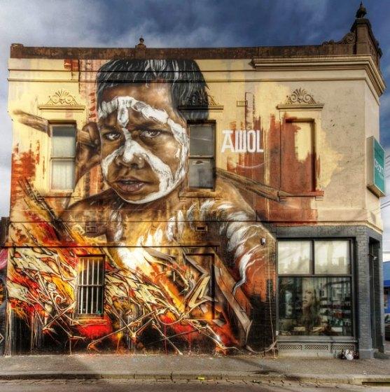 Kota dengan Seni Jalanan Terbaik di Dunia - Seni-Jalanan-Lukisan-Mural-di-Kota-Melbourne-di-Australia-3