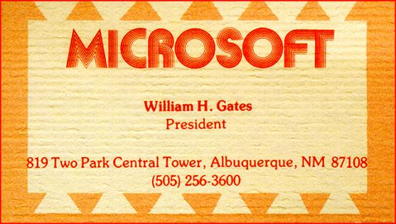 Kartu-Nama-Bill-Gates-Microsoft