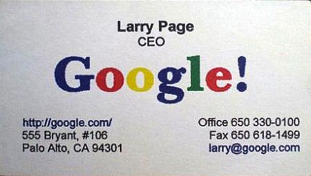 Kartu-Nama-Larry-Page-Google