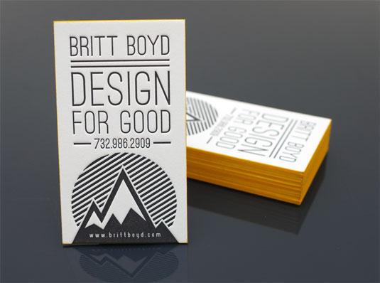 Desain Kartu Nama dengan Cetak Letter Press - brittboyd
