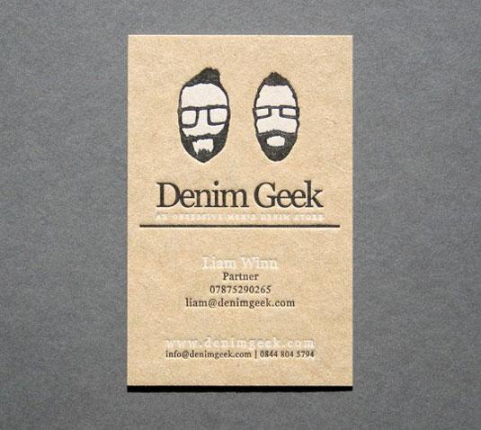 Desain Kartu Nama dengan Cetak Letter Press - denimgeek