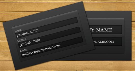 loginform Photoshop PSD Kartu Nama Unik