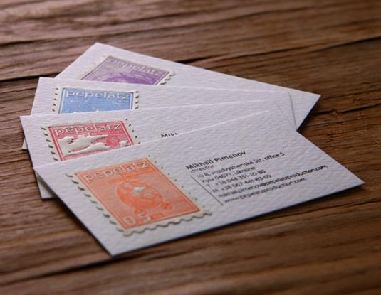 Desain Kartu Nama dengan Cetak Letter Press - stamp2