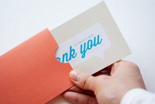 Kartu ucapan terima kasih thank you card A Really Big Thank You 2