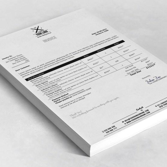 Contoh Desain Invoice Surat Daftar Tagihan Untuk Bisnis