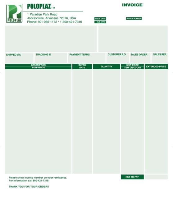 Contoh Desain Invoice Surat Daftar Tagihan Untuk Bisnis Free