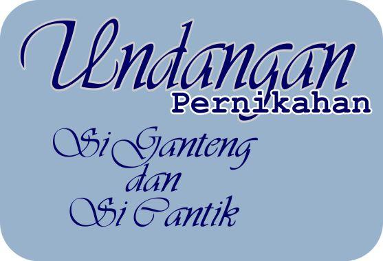 Font Cantik untuk Desain Undangan Pernikahan
