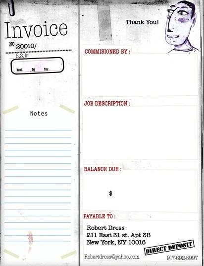Contoh Faktur Invoice Tagihan - Contoh Desain Invoice Faktur Tagihan 08