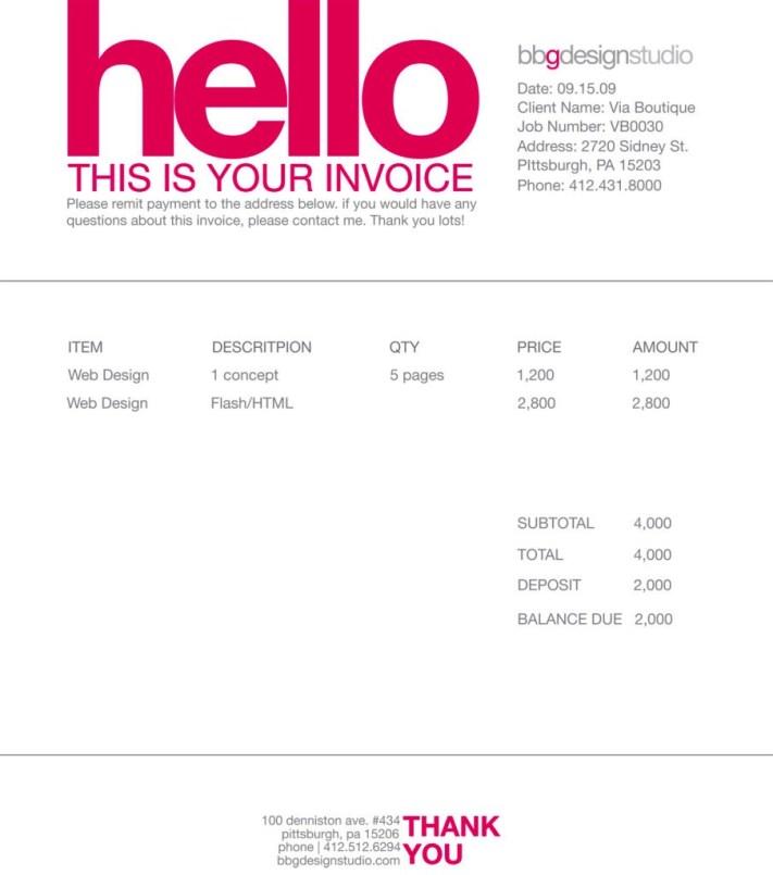 Contoh Desain Invoice Faktur Tagihan 11