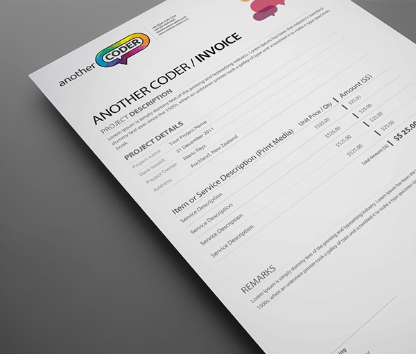 Contoh Faktur Invoice Tagihan - Contoh Desain Invoice Faktur Tagihan 14