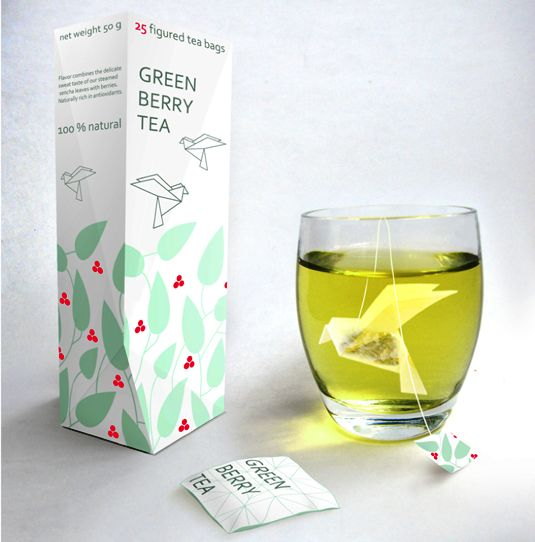 packaging design - Origami Tea bags