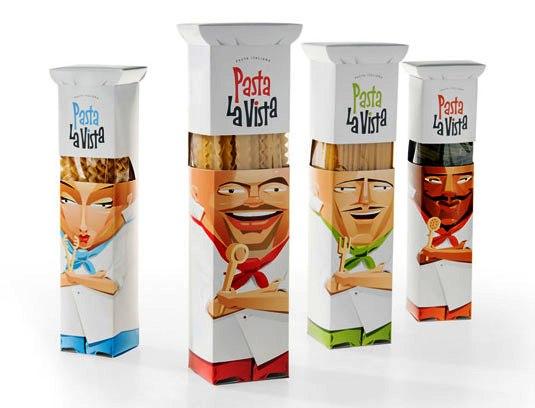 Contoh Desain Kemasan Unik Menarik - Contoh desain kemasan unik menarik - packaging design - Pasta La Vista