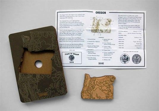 Contoh Desain Kemasan Unik Menarik - Contoh desain kemasan unik menarik - packaging design - Topography of America State Magnets