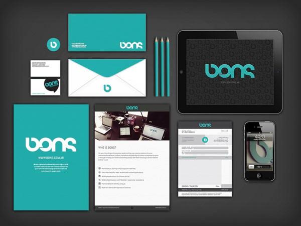 Desain Stasioneri Inspiratif Siap Print dan Cetak - BONSDESIGN Visual Identity