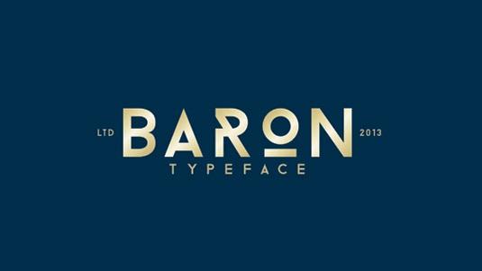 Download 100 Font Gratis untuk Desain Grafis dan Web - Baron Free Font
