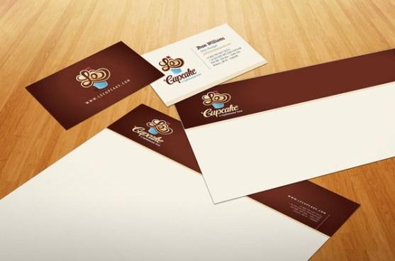 Contoh Desain Kop Surat dan Kartu Nama Paling Kreatif - Contoh-Desain-Kop-Surat-Kreatif-01-Le-Cupcake-Stationery-design