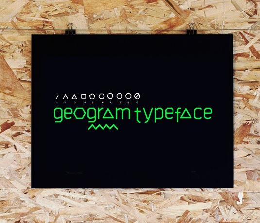 Download 100 Font Gratis untuk Desain Grafis dan Web - Geogram Free Font