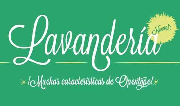 Download 100 Font Gratis untuk Desain Grafis dan Web - Lavanderia Free Font