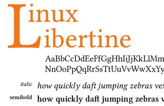 Download 100 Font Gratis untuk Desain Grafis dan Web - Linux Libertine Free Font