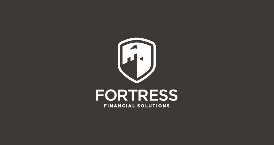 Contoh Desain Logo Institusi Keuangan - Logo Keuangan Fortress