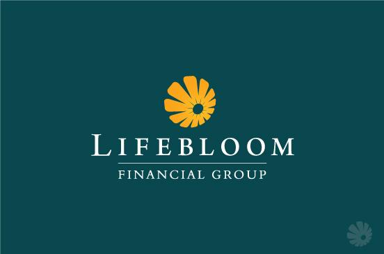 Contoh Desain Logo Institusi Keuangan - Logo Keuangan LIfe Bloom