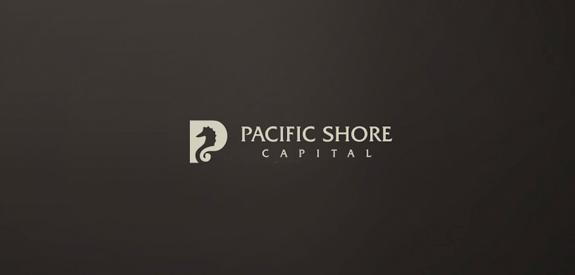 Contoh Desain Logo Institusi Keuangan - Logo Keuangan Pacific Shore