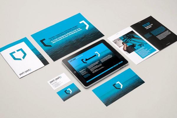 Desain Stasioneri Inspiratif Siap Print dan Cetak - Port2Port Identity