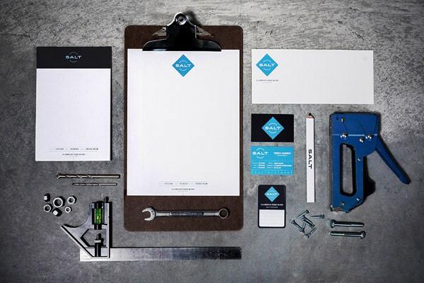Desain Stasioneri Inspiratif Siap Print dan Cetak - Salt Branding