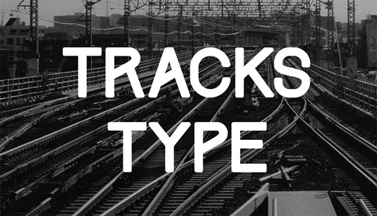 Download Free Font Gratis for Graphic Design and Web - Tracks-Free-Font