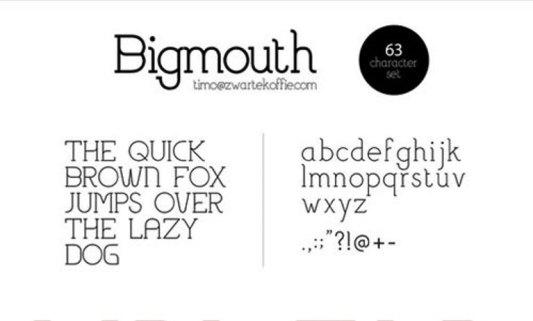 Font Cantik Free Download Gratis - Bigmouth