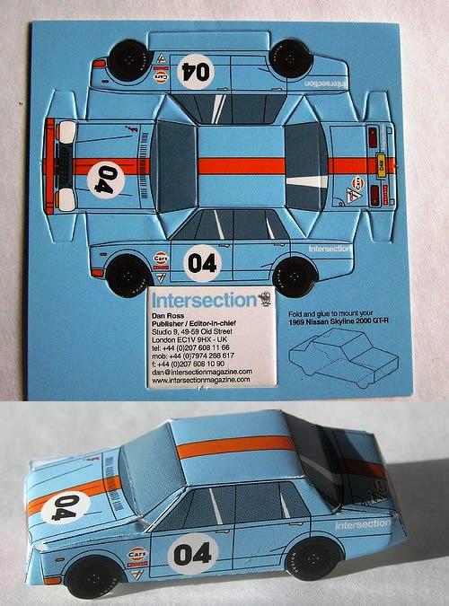 Contoh Desain Kartu Nama yang Unik - Intersecion-car-cutting-business-card
