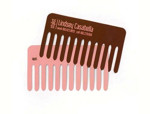 Contoh Desain Kartu Nama yang Unik - comb-like-business-card