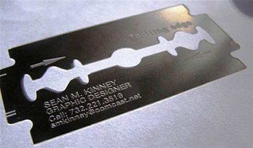 Contoh Desain Kartu Nama yang Unik - cutting-edge-gillete-like-business-card