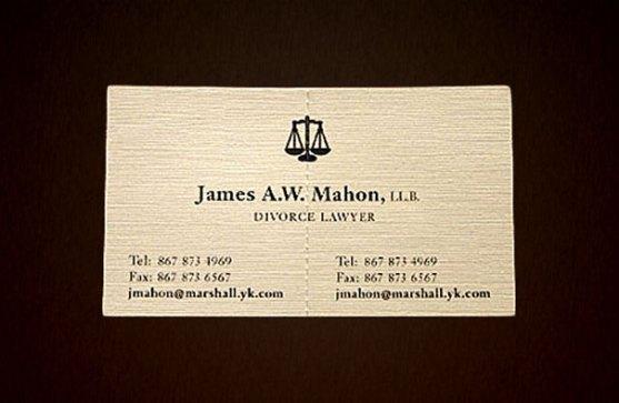 Contoh Desain Kartu Nama Kreatif - Kartu-Nama-Pengacara-Perceraian
