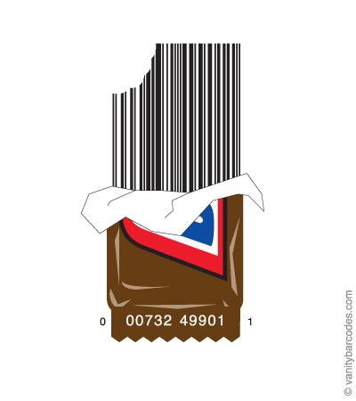 Desain Barcode Keren yang Unik - desain barcode unik kreatif vanitybarcodes - barcode seperti cokelat