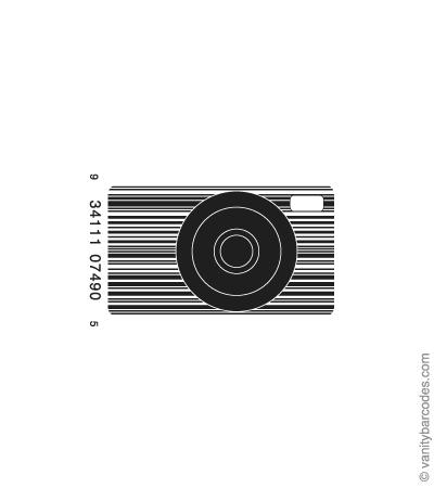 Desain Barcode Keren yang Unik - desain barcode unik kreatif vanitybarcodes - barcode seperti kamera