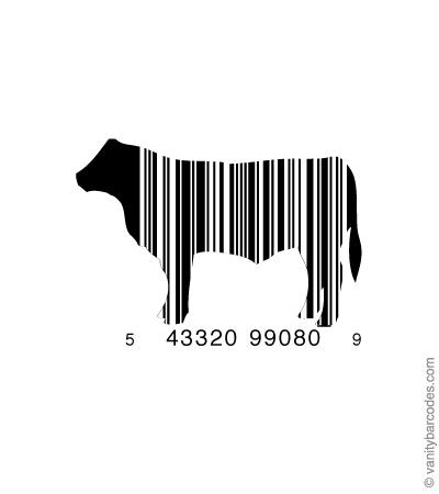 Desain Barcode Keren yang Unik - desain barcode unik kreatif vanitybarcodes - barcode seperti sapi