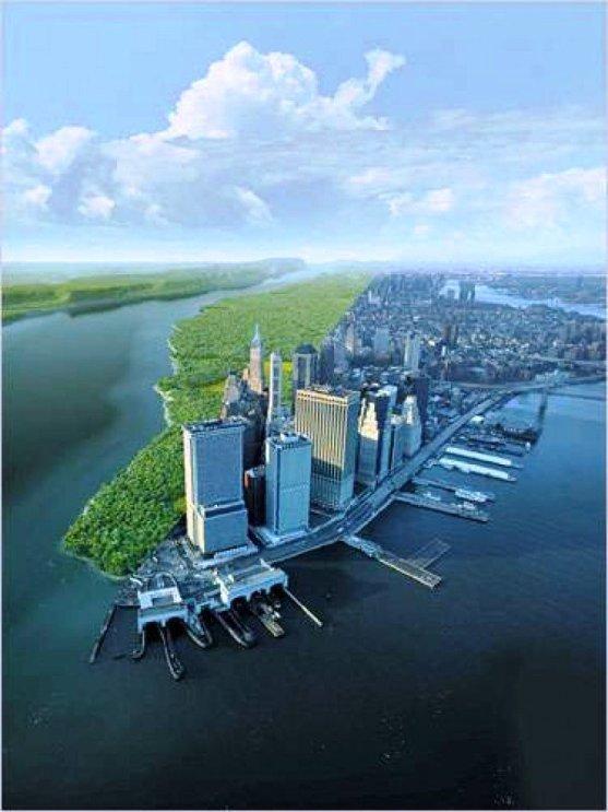 Foto Luar Biasa Yang Belum Pernah Anda Lihat - Gambar-Foto-Perkiraan-perbandingan-Manhattan-saat-ini-dengan-penampilannya-600-tahun-yang-silam