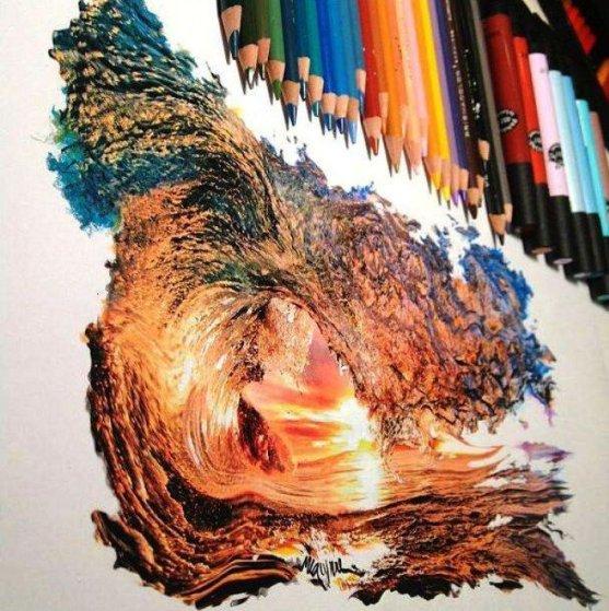 Foto Luar Biasa Yang Belum Pernah Anda Lihat - Gambar-Foto-sebuah-karya-paling-kompleks-dari-pensil-warna