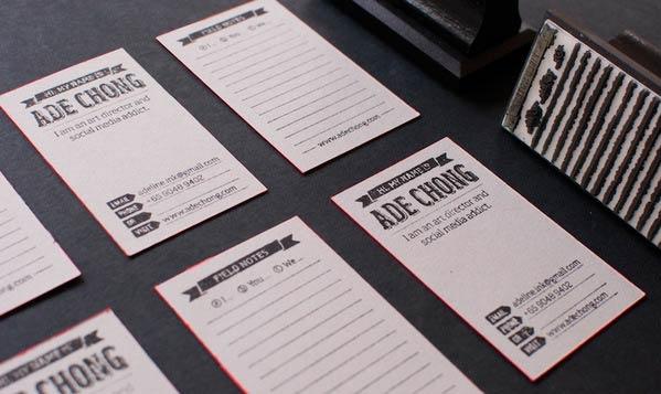 39 Desain Stempel Karet Standar Biasa - Desain Stempel Karet - Kartu Nama 2