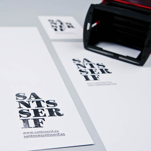 39 Desain Stempel Karet Standar Biasa - Desain Stempel Karet - Sants Serif