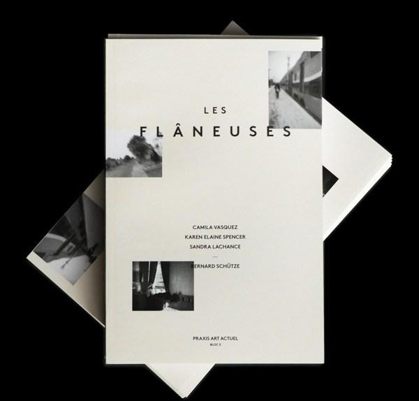 22 Disain Katalog Kreatif - Contoh desain katalog - LES FLÂNEUSES Artists Exhibition Catalog oleh Justin Lortie