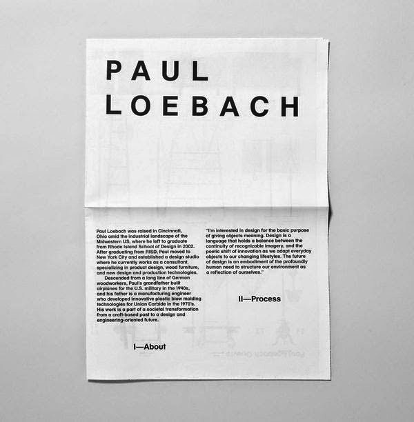 22 Disain Katalog Kreatif - Contoh desain katalog - Paul Loebach Identity oleh Studio Lin