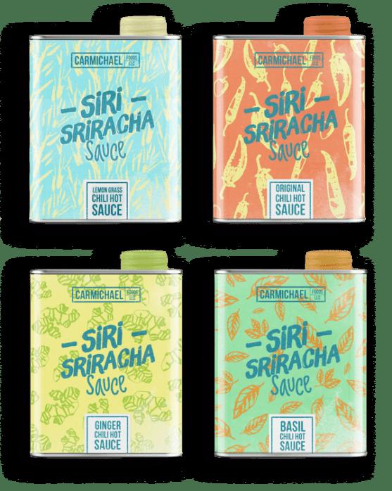 Desain Kemasan Sambal Saus yang Kreatif - Desain-Kemasan-Makanan-Saus-Sambal-Siri-Sriracha-Hot-Sauce-oleh-André-Moreira
