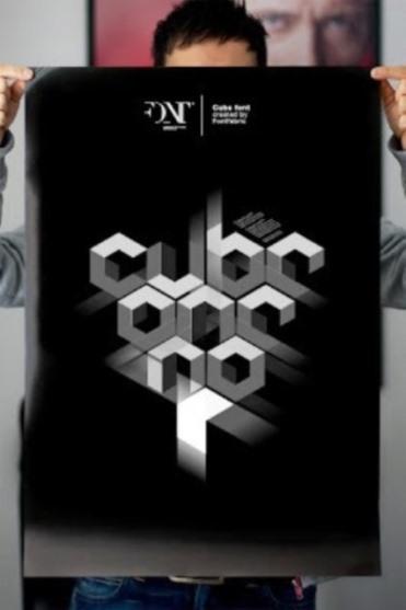 62 Font Unik untuk Desain Grafis - Font-Unik-Cube