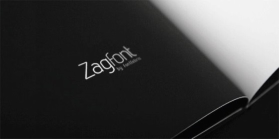 62 Font Unik untuk Desain Grafis - Font-Unik-Zag-Free-Font